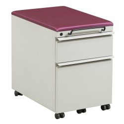 Knoll Box File Mobile Pedestal in Putty and Magenta