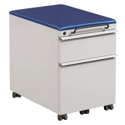 Knoll Box File Mobile Pedestal in Putty and Blue