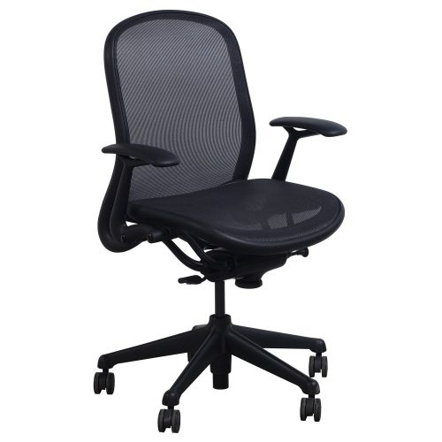 Knoll Chadwick Black Mesh Conference Chair - Front