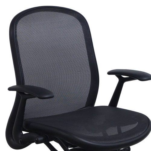 Knoll Chadwick Black Mesh Conference Chair - Arm