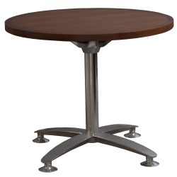 Steelcase 36 Inch Wood Veneer Meeting Table in Walnut