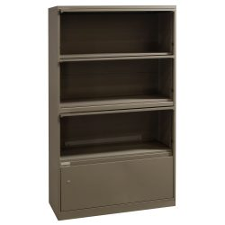 Steelcase 4 Drawer Lateral File in Fieldstone - Flip Drawers