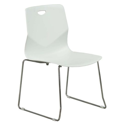 goSIT Peak Stack Chair in Light Gray - Front