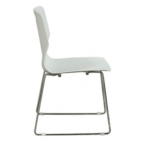 goSIT Peak Stack Chair in Light Gray - Side