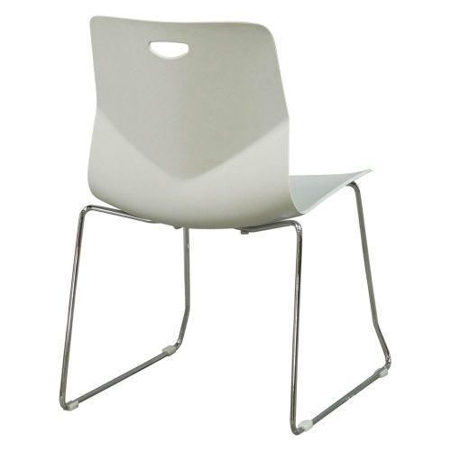 goSIT Peak Stack Chair in Light Gray - Back