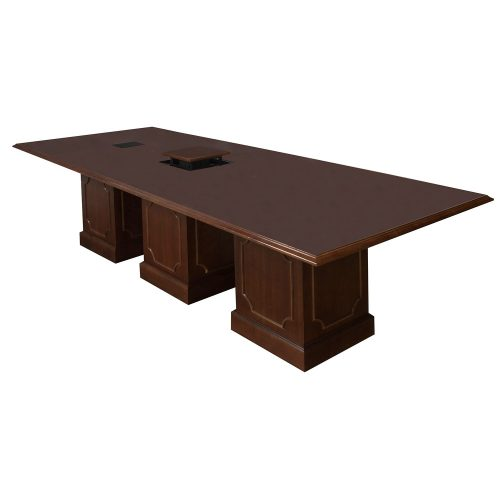 10ft Traditional Conference Table in Medium Cherry