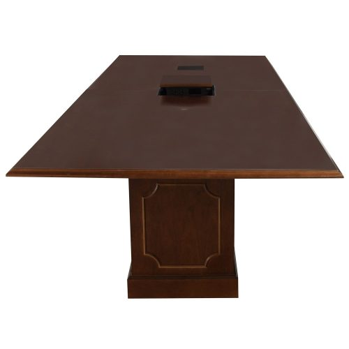 10ft Traditional Conference Table in Medium Cherry - Head of Table