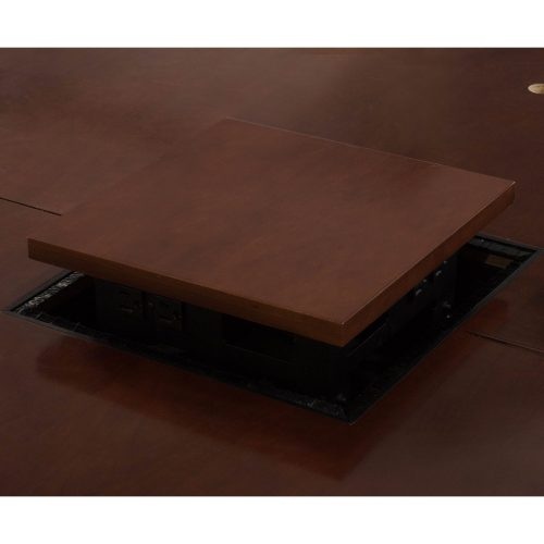 10ft Traditional Conference Table in Medium Cherry - Center Grommet