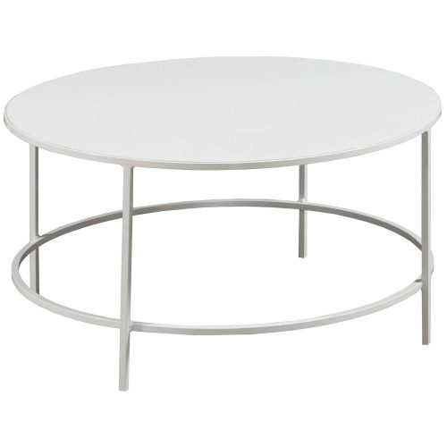 30 Inch White Modern Coffee Table