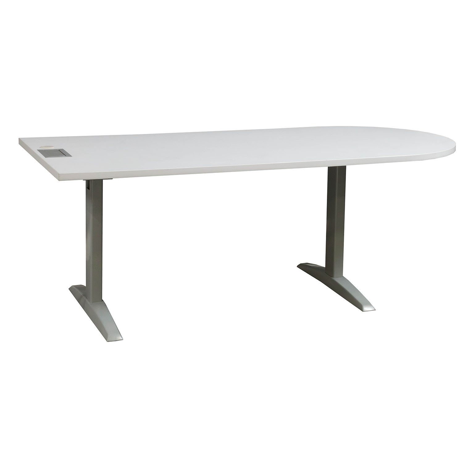 HON Preside Used Laminate Table White National Office Interiors - Hon racetrack conference table