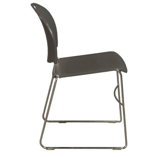 Haworth System 12 Gray Stack Chair - Side