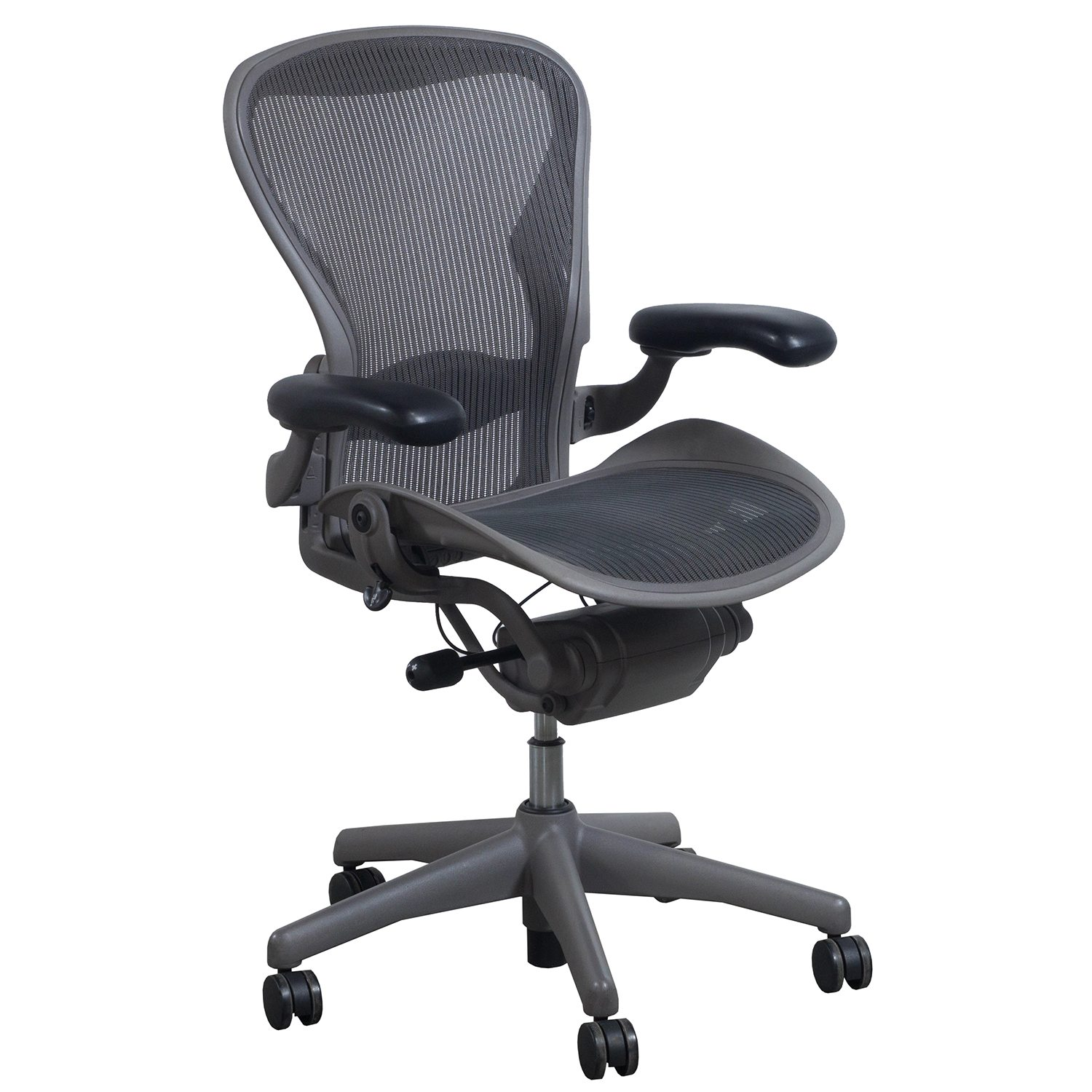 check out 61290 14882 Herman Miller Aeron Used Size B Task Chair, Lead