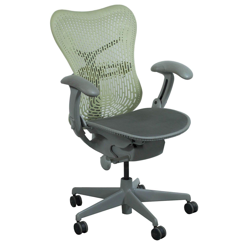 herman miller mirra used mesh seat task chair citron national