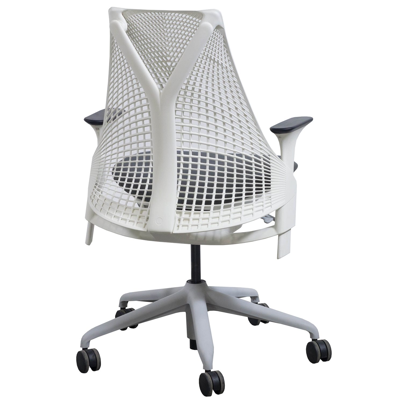 Herman Miller Sayl Used White Back Task Chair Gray Seat
