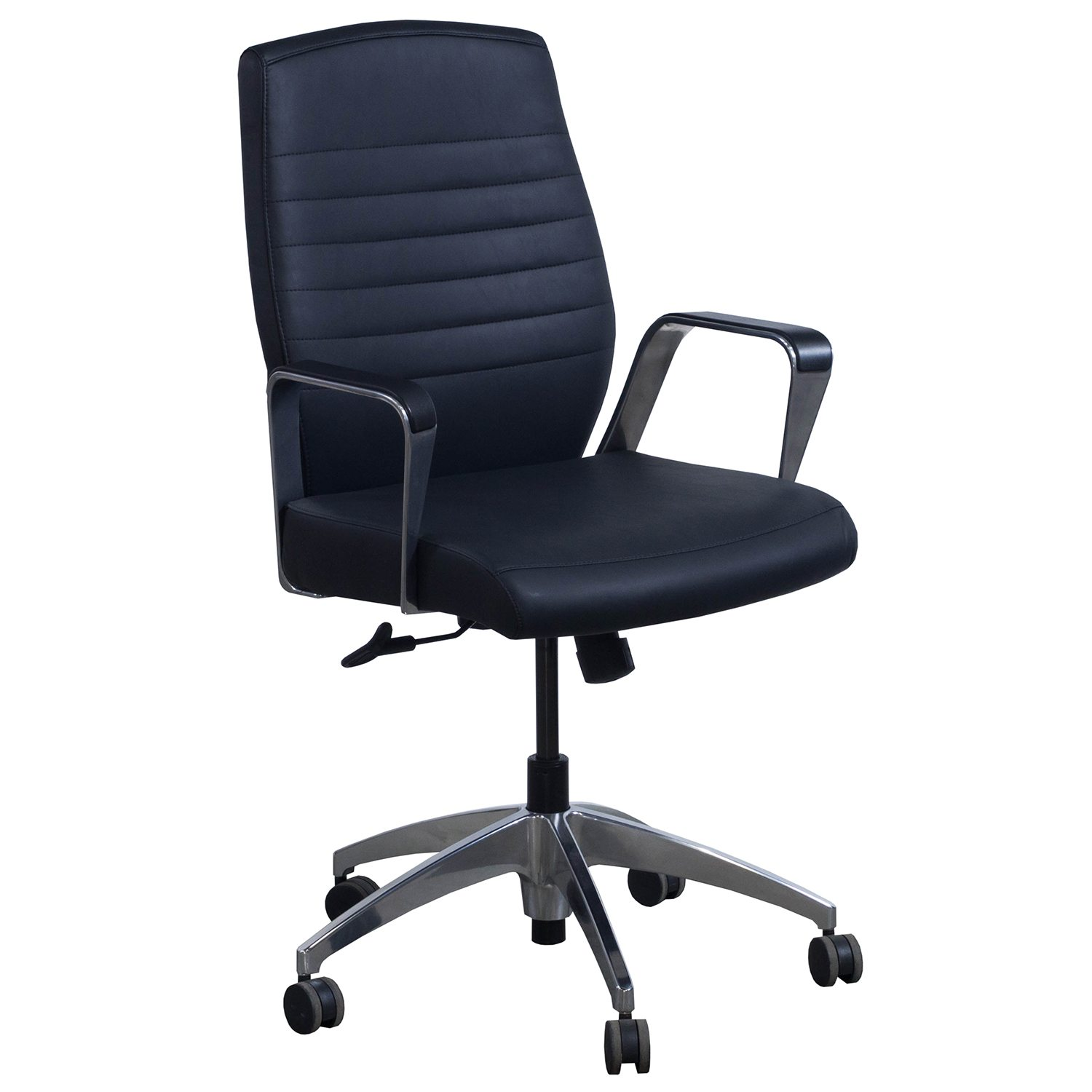 Highmark Fino Conference Chair In Black PU Leather