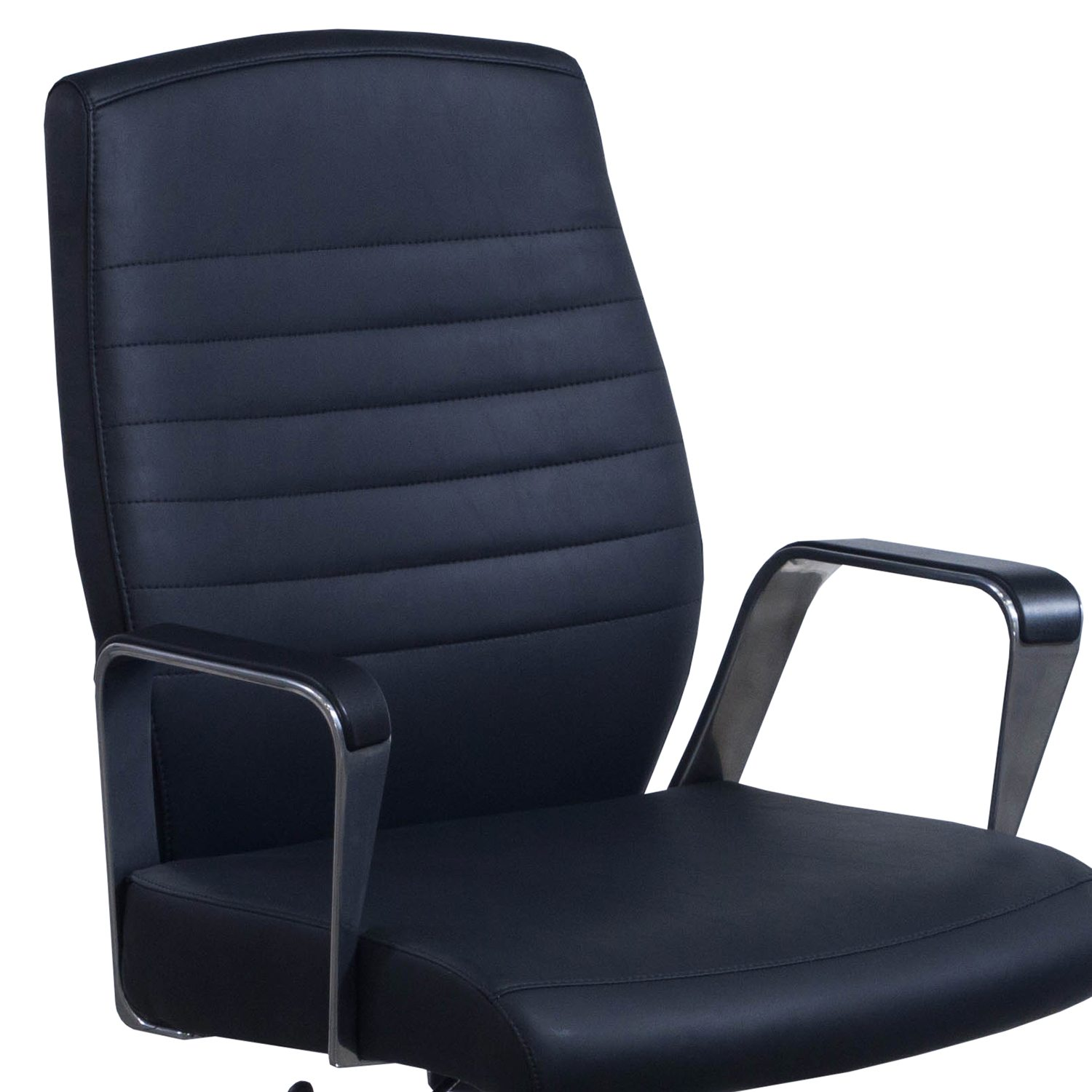Highmark Fino Conference Chair In Black PU Leather   Arm