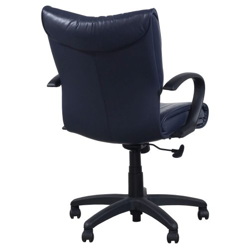 SitOnIt Glove Blue Leather Conference Chair - Back