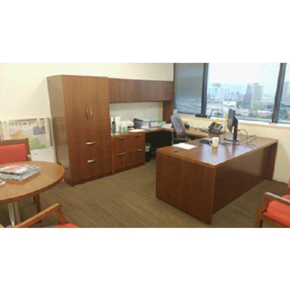 Steelcase Used Left Return Veneer U Shape Desk Walnut