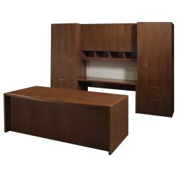 Steelcase Executive Desk Set in Walnut