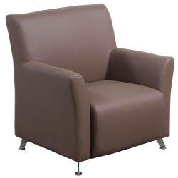 goSIT Tan PU Leather Reception Chair