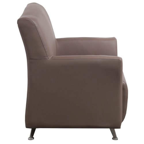 goSIT Tan PU Leather Reception Chair - Side