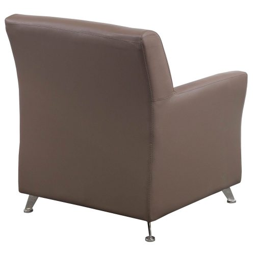 goSIT Tan PU Leather Reception Chair - Back