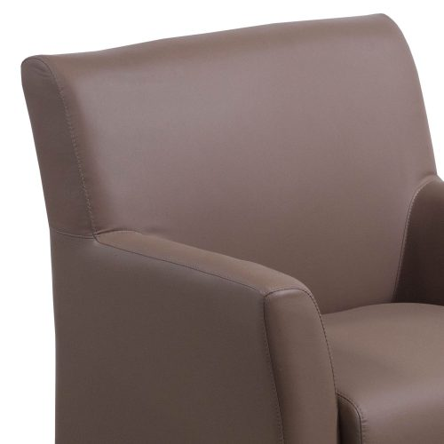 goSIT Tan PU Leather Reception Chair - Arm