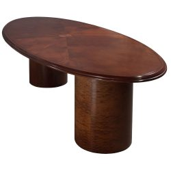 10ft Walnut Conference Table - 3/4 Angle