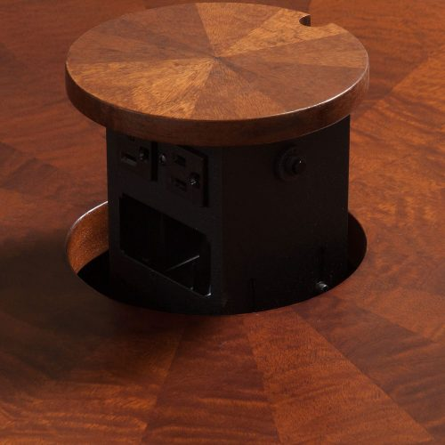 10ft Walnut Conference Table - Grommet Up
