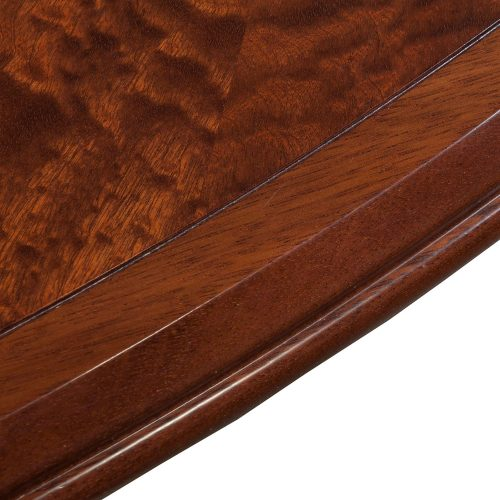 10ft Wood Veneer Oval Table with 2 Grommet Covers - Edge