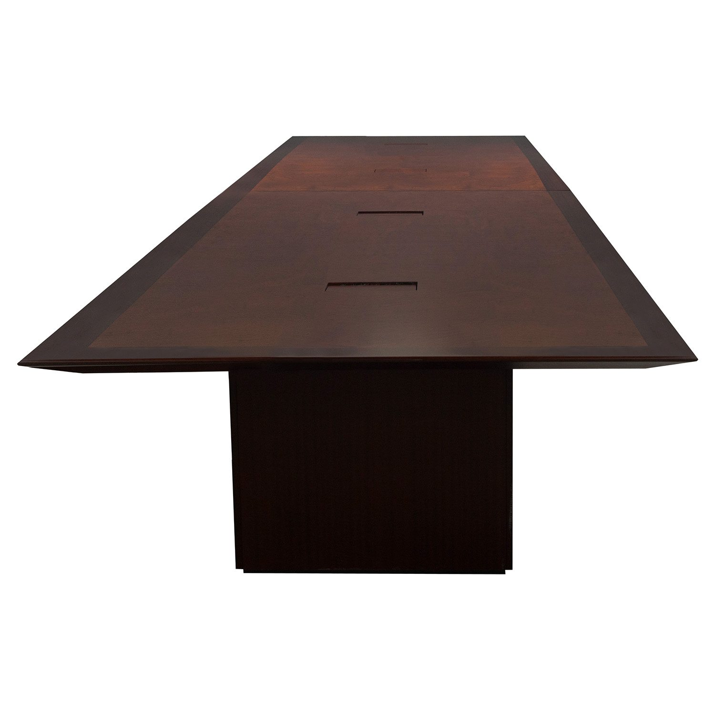 24 Foot Used Veneer Conference Table Walnut National