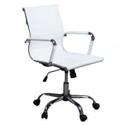 Inside Job Modern Executive Low Back Chair White Front View