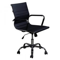 Inside Job Modern Executive Low Back Chair Black Front View