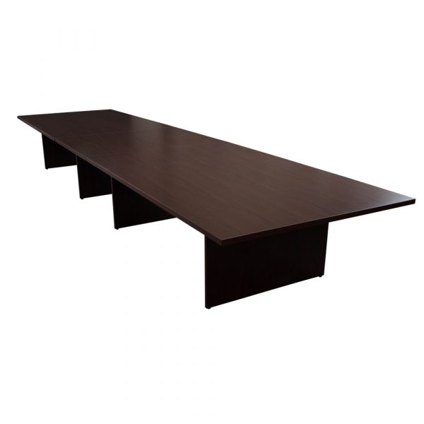 Everyday Foot Laminate Rectangle Conference Table Mahogany - 20 foot conference table