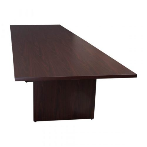 Everyday Mahogany Laminate Rectangle Conference Table Front View