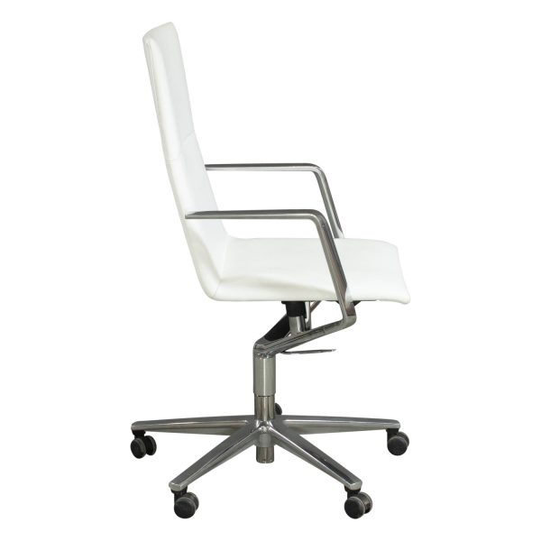 Davis Furniture Used Leather Conference Chair White