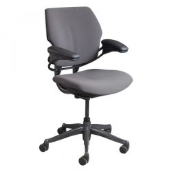 Humanscale Freedom Used Mid Back Task Chair Eggplant Front View