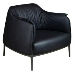 Aleena by goSIT Modern Leather Reception Chair Black Front View