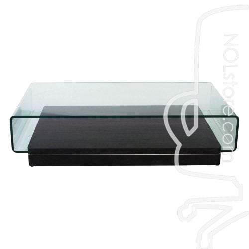 Rectangular Used Glass Coffee Table Front View