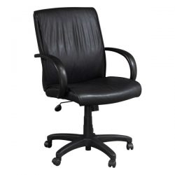 Steelcase Used Black Leather Conference Chair