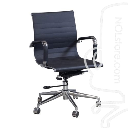 Cordelia by goSIT New Modern Executive Mid Back Chair Black Front View