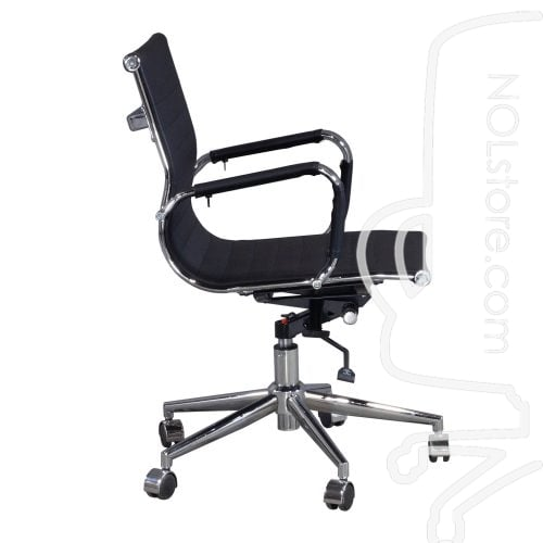 Cordelia by goSIT New Modern Executive Mid Back Chair Black Side View