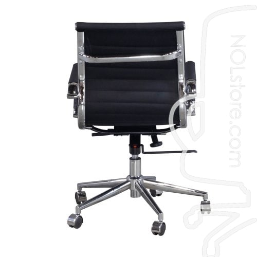 Cordelia by goSIT New Modern Executive Mid Back Chair Black Back View