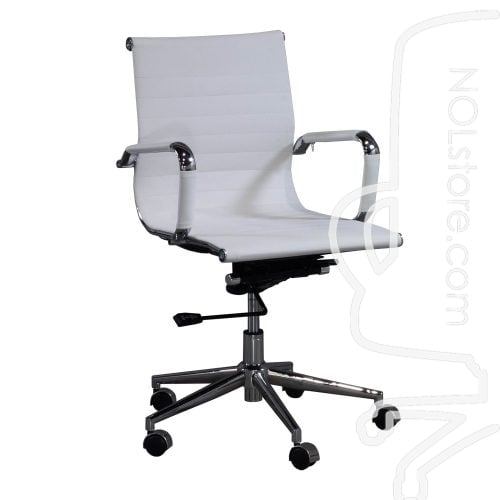Cordelia by goSIT New Modern Executive Mid Back Chair White Front View