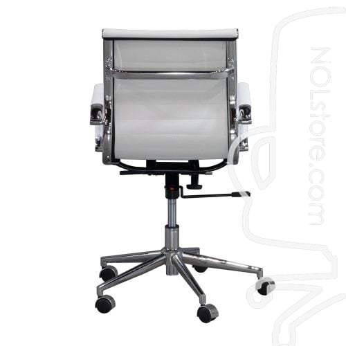 Cordelia by goSIT New Modern Executive Mid Back Chair White Back View
