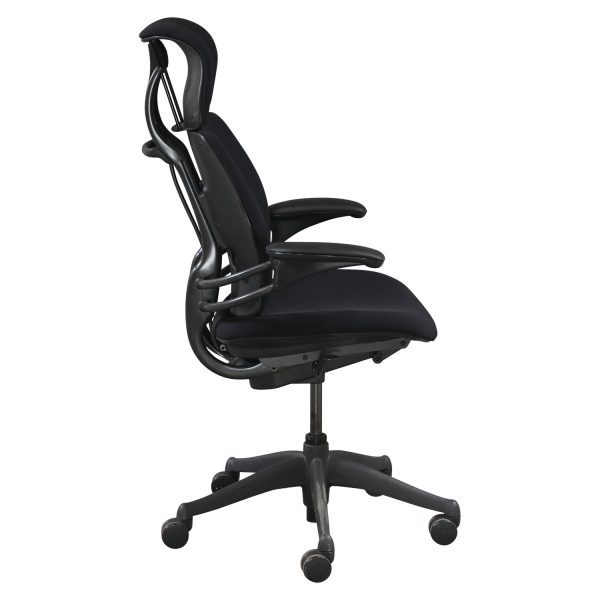 on sale cc859 39afc Humanscale Freedom Used High Back Task Chair w/ Headrest, Black - National  Office Interiors and Liquidators