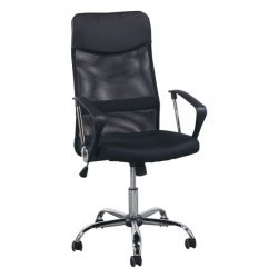 Inside Job Mesh Back Conference Chair Black Front View
