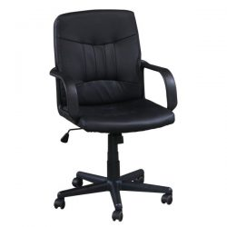 Inside Job Leather Conference Chair Black Front View