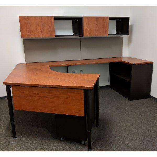 Teknion Transit Used U Shape Desk Set Right Return Cherry