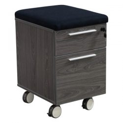 Manhattan Laminate Mobile Pedestal Box File Cashmere Gray